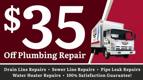 $35 Off Plumbing Repairs