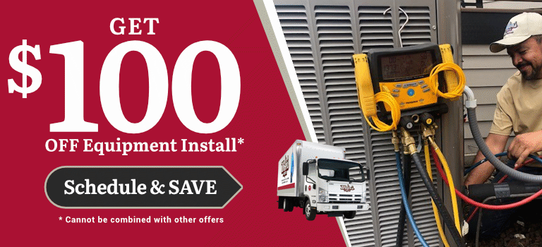 $100 Off Equipment Install