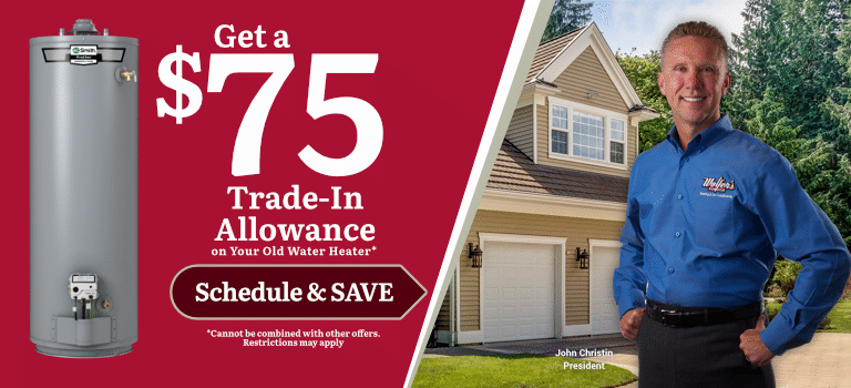 $75 Trade-In Allowance On Your Old Water Heater